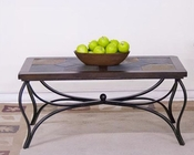 Sunny Designs Santa Fe Coffee Table with Metal Base SU-3125DC-C