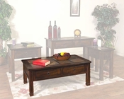 Sunny Designs Santa Fe Coffee Table with Slate Top SU-3143DC