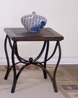 Sunny Designs Santa Fe End Table with Metal Base SU-3125DC-E