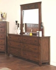 Sunny Designs Santa Fe Petite Dresser and Mirror SU-2333DC-DM