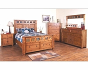 Sunny Designs Sedona 4pc Bedroom Set SU-2322RO-Set