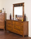 Sunny Designs Sedona Petite Dresser and Mirror SU-2333RO-DM