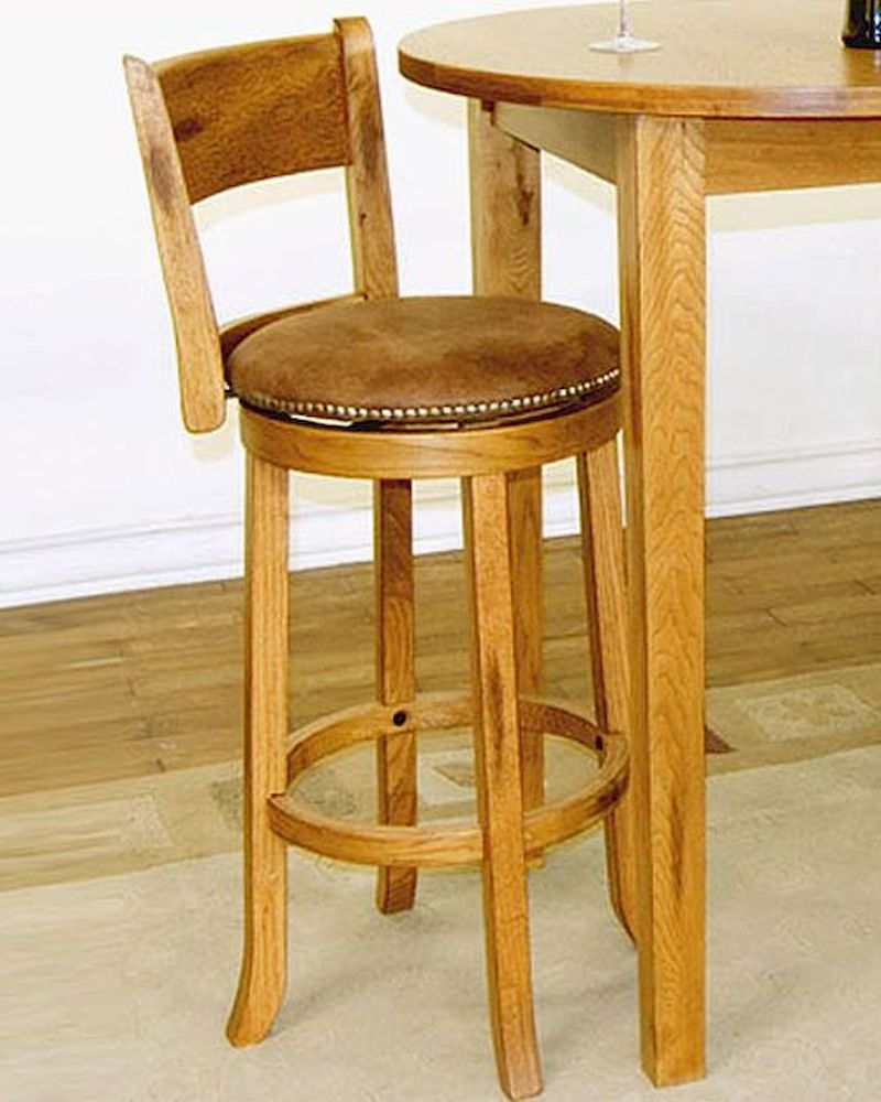 Sunny Designs Swivel Bar Stool Sedona W Back Su 1883ro