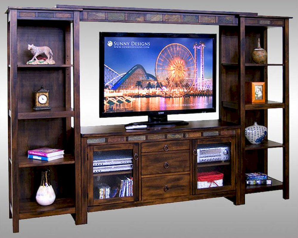 Sunny Designs Wall Entertainment Center Santa Fe Su 3403dc