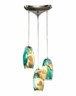 ELK Surreal  Collection 3 Light Chandelier in Satin Nickel EK-31539-3CG