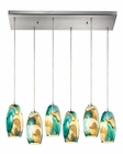 ELK Surreal  Collection 6 Light Chandelier in Satin Nickel EK-31539-6RC-CG