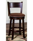 Swivel Stool  w/ Back Santa Fe by Sunny Designs SU-1882DC (Set of 2)