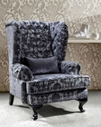 Tall Fabric Leisure Chair w/ Acrylic Crystals 44L0699
