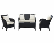 Thrive Patio Sofa Set in Espresso White by Modway MY-EEI725
