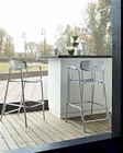 Toledo Indoor-Outdoor Bar Stool in Silver by Modway MY-EEI853SLV