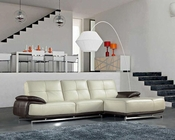 Top Grain Italian Leather Sectional Sofa 44L6098