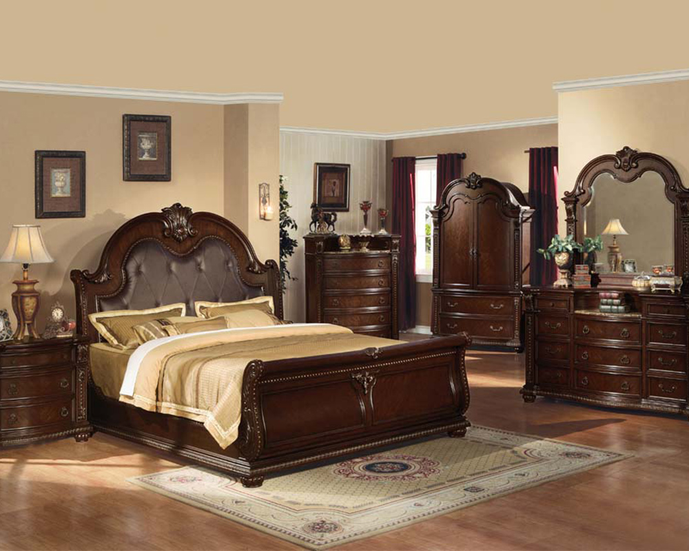 Traditional bedroom set anondale by acme furniture ac10310set for Traditional bedroom furniture