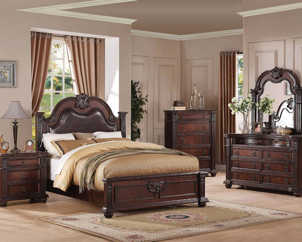 Traditional bedroom set daruka by acme furniture ac21310set for 5 bedroom