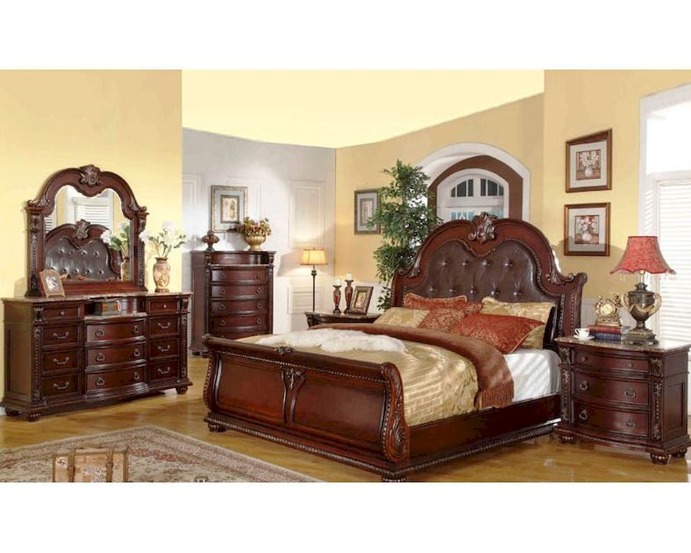 Traditional bedroom set mcfb9500set for Traditional bedroom furniture