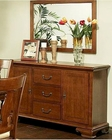Traditional Buffet w/ Mirror American Heritage by Ayca AY-12-2004-B