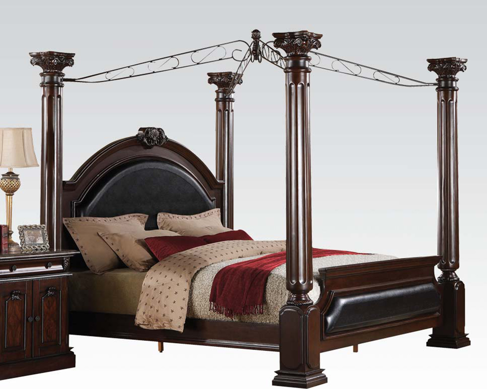 traditional canopy bed roman empire acme ac19340bed - Traditional Canopy 2016