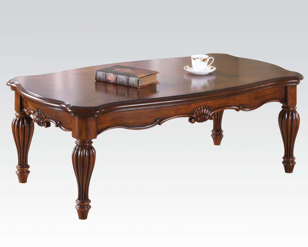 Traditional coffee table dreena by acme furniture ac10290 Traditional coffee table