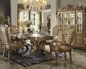 Traditional Dining Set Dresden Gold by Acme Furniture AC63150SET