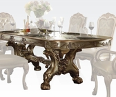 Traditional Dining Table Dresden Gold by Acme Furniture AC63150