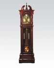 Traditional Grandfather Clock in Dark Walnut by Acme Furniture AC01431