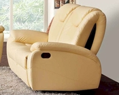 Traditional Leather Loveseat in Beige Color ESF33L