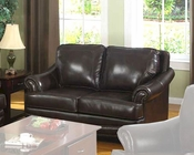 Traditional Leather Loveseat MO-BOLL