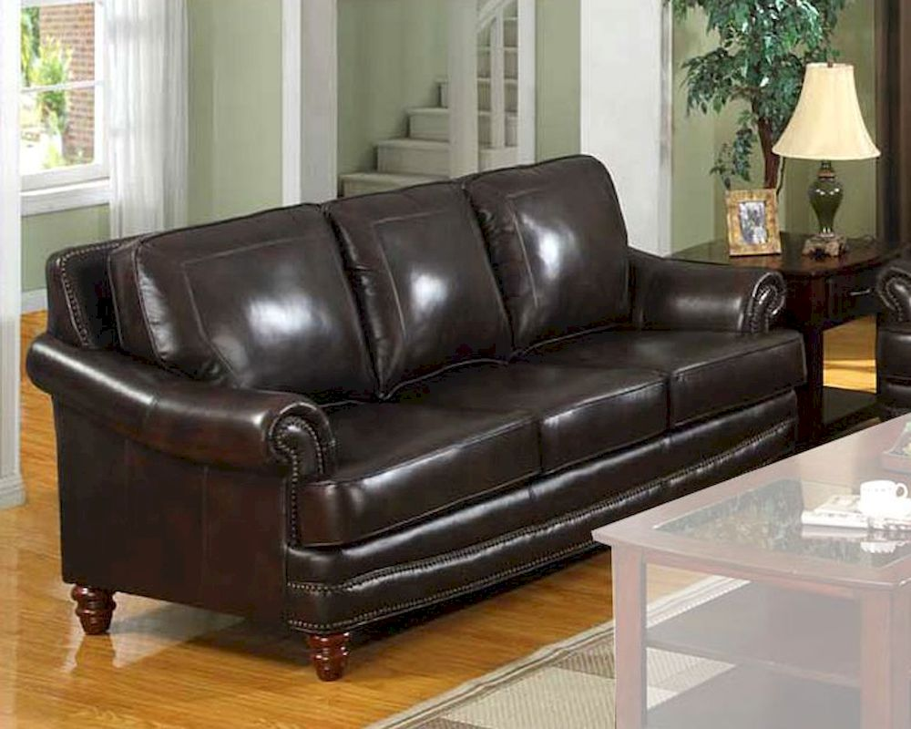 Traditional leather sofa mo bols for Traditional leather sofas furniture