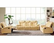 Traditional Leather Sofa Set in Beige Color ESF33SET