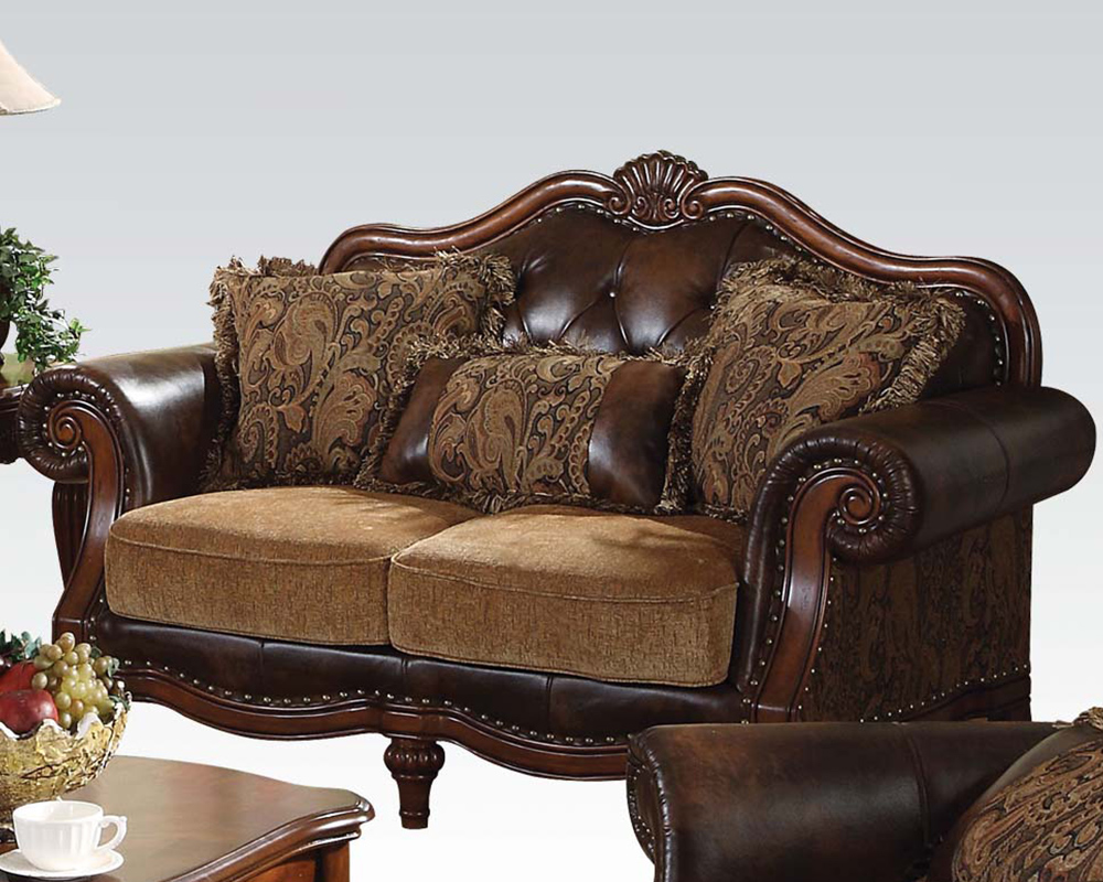 Traditional loveseat dreena by acme furniture ac05496 for Traditional sofas and loveseats