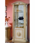 Traditional One-Door China Cabinet in Beige Finish 44DBG-ENT-CC1