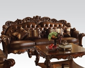 Traditional Oversized Sofa Vendome Cherry by Acme Furniture AC52000