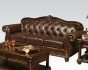Traditional Sofa in Cherry Anondale by Acme Furniture AC15030
