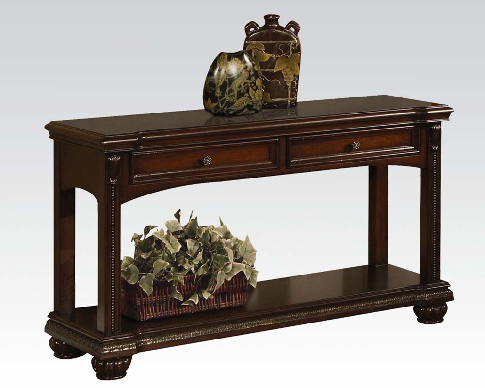 Traditional sofa table in cherry anondale by acme furniture ac10324 geotapseo Gallery