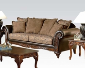 Traditional Sofa w/ 6 Pillows Fairfax by Acme Furniture AC50335