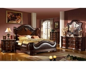 Traditional Style Bedroom Set w/ Uphostered Bed MCFB3000SET