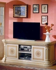 Traditional TV Center in Beige Finish 44DBG-ENT-TV