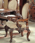 Traditional Upholstered Arm Chair in Cherry MCFRD0017-CA (Set of 2)
