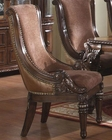 Traditional Upholstered Chair in Warm Cherry MCFRD400-CS (Set of 2)
