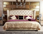 Transitional Beige Eco-Leather Bed 44B177BD