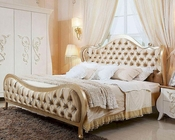 Transitional Beige Fabric Bed in Contemporary Style 44B150BD