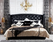 Transitional Black Eco-Leather Bed 44B176BD