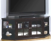 Transitional Corner Media Unit with Glass Doors Fullerton CO700658