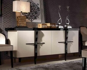 Transitional Glossy Champagne Crocodile Lacquer Buffet 44D106-200
