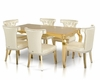 Transitional Golden Dining Set 44D841-180-SET