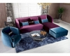 Transitional Purple Floss Fabric Sectional Sofa & Chair 44L6082