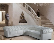Transitional Tufted Leather Sectional Sofa 44L6011