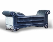 Transitional Velour Fabric Bench 44B174BN