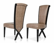 Transitional X-Leg Dining Side Chair 44D013