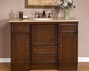 "Travertine Top Silkroad 48"" Single Sink Cabinet"