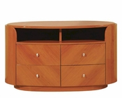 TV Console Elma in High Gloss Cherry Finish 35B18